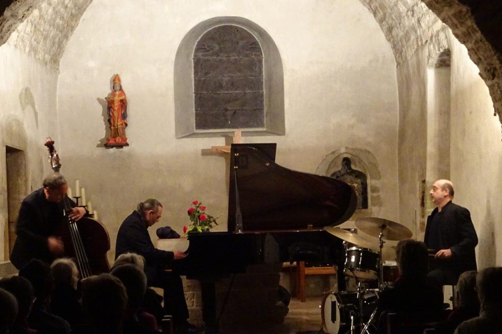 Piero iannetti, concert en église, avec Frédéric Chopin jazz project, église de Chapéry.