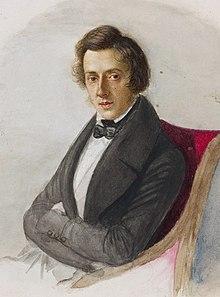 Frédéric Chopin jazz project, photo de Frédéric Chopin sur la page d'accueil du site Frédéric-Chopin-jazz.com