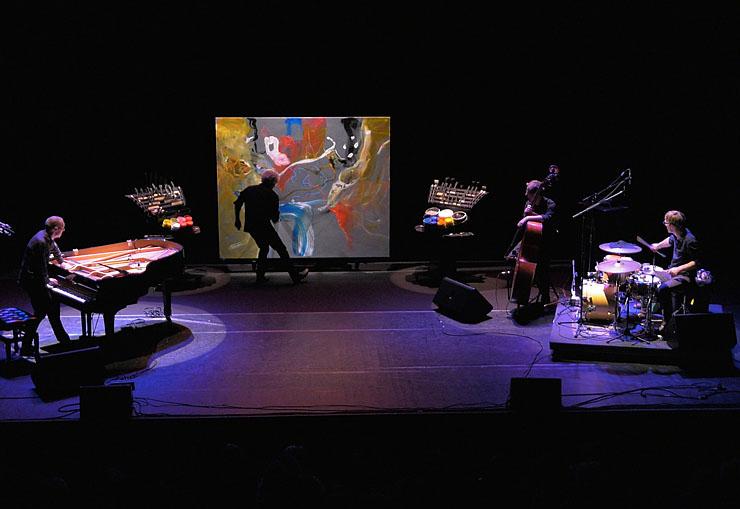 Mathias Duhamel, piero iannetti, avec Frédéric Chopin jazz project, concerts de peinture